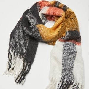 Urban Outfitters Plaid Blanket Scarf